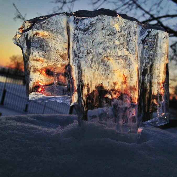 Sun Through Ice
